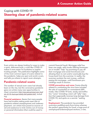 Steering clear of pandemic-related scams