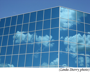 cloud on building image
