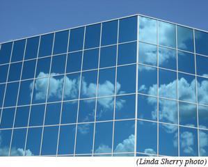 cloud on building image
