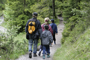 family hiking image