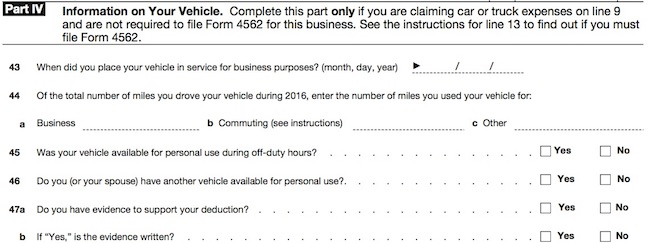 Schedule C car expense image