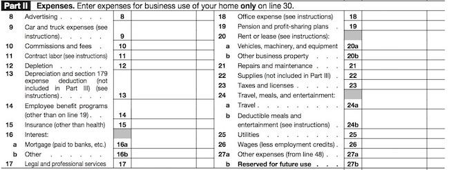 Schedule C expense image