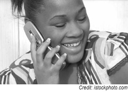 teen on the phone image